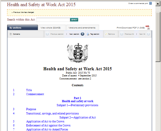 An act of Parliament published to the web