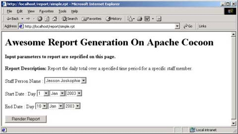 excel reports with apache cocoon and poi