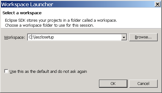 Select the workspace folder