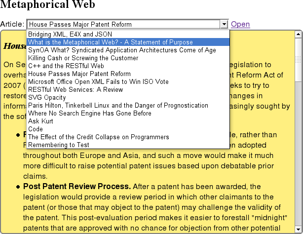 Metaweb Screen Shot